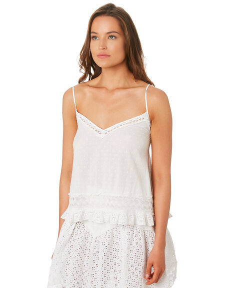 WHITE WOMENS CLOTHING TIGERLILY FASHION TOPS - T392051WHI