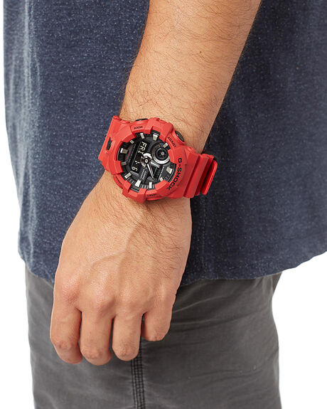 RED MENS ACCESSORIES G SHOCK WATCHES - GA700-4ARED