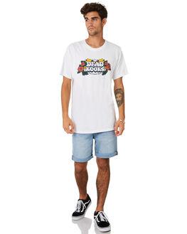 WHITE MENS CLOTHING DEAD KOOKS TEES - DKSTEE41WHT