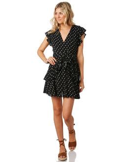 BLACK WHITE WOMENS CLOTHING MINKPINK DRESSES - MP1906550BKWT