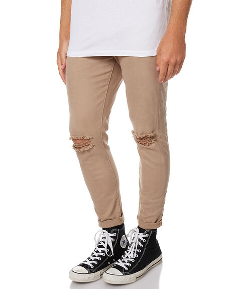 KHAKI SLASH MENS CLOTHING ZIGGY JEANS - ZM-1121KHKSL