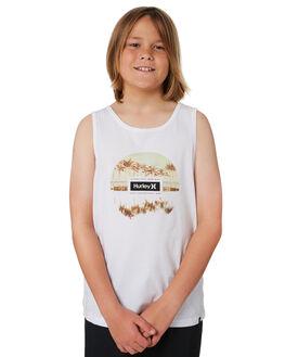 WHITE KIDS BOYS HURLEY TOPS - CK0992100