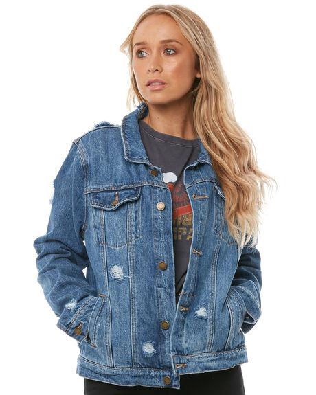 VINTAGE BLUE WOMENS CLOTHING THRILLS JACKETS - WTDP-205VEVBLUE