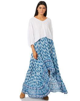 INK BLUE WOMENS CLOTHING RUSTY SKIRTS - SKL0448IBE