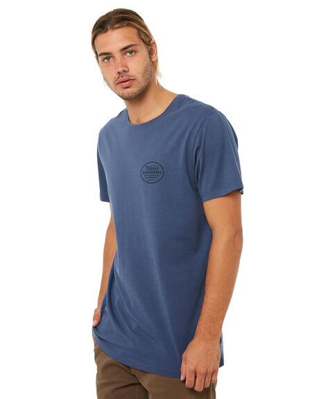 SMOKE BLUE MENS CLOTHING MCTAVISH TEES - MA-18T-04SBLU