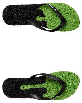 BLACK LIME MENS FOOTWEAR KUSTOM THONGS - 4976203ABKLIM