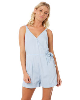 LIGHT INDIGO WOMENS CLOTHING ELWOOD PLAYSUITS + OVERALLS - W83712-BFC