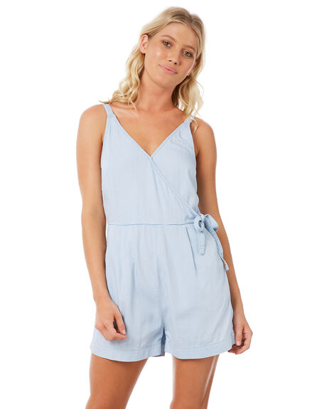 LIGHT INDIGO OUTLET WOMENS ELWOOD PLAYSUITS + OVERALLS - W83712-BFC