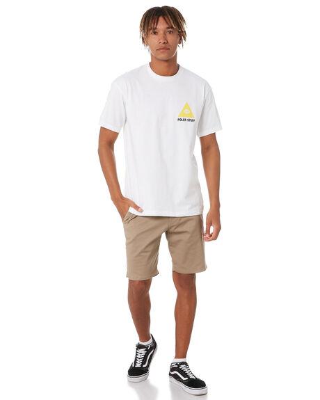 WHITE MENS CLOTHING POLER TEES - 213APM2005-WHT