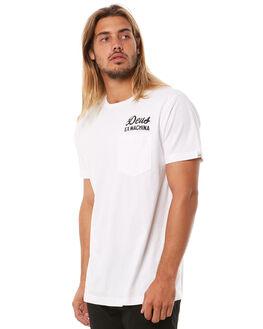 WHITE MENS CLOTHING DEUS EX MACHINA TEES - DMS41065AWHT