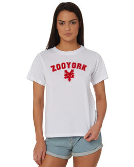 WHITE WOMENS CLOTHING ZOO YORK TEES - ZY-WTC8379WHT
