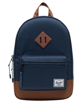NAVY SADDLE BROWN KIDS BOYS HERSCHEL SUPPLY CO BAGS + BACKPACKS - 10313-02564-OSNSB