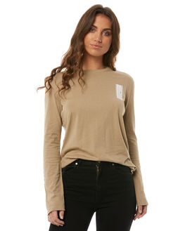 GOLDRUSH WOMENS CLOTHING RVCA TEES - R283098GOLD