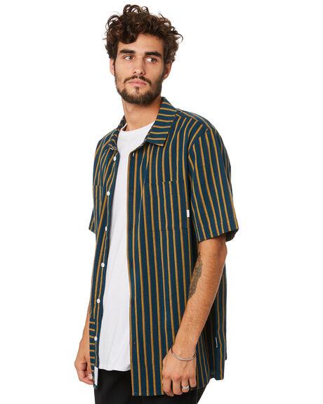 NAVY STRIPE MENS CLOTHING RPM SHIRTS - 20AM09C2NVYST