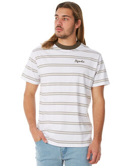 WHITE OUTLET MENS AFENDS TEES - M183102WHT