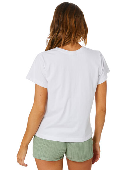 WHITE WOMENS CLOTHING RUE STIIC TEES - EXC-SST-15-2-W-CJWHT