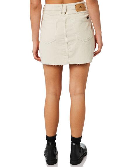 DIRTY WHITE WOMENS CLOTHING THRILLS SKIRTS - WTR9-301ADRTWT
