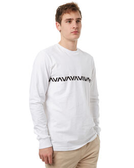 WHITE MENS CLOTHING RVCA TEES - R371095WHT