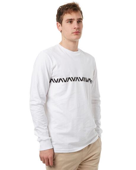 WHITE MENS CLOTHING RVCA TEES - R371095WHT