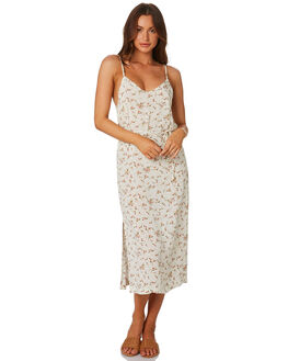 NATURAL FLORAL WOMENS CLOTHING RHYTHM DRESSES - QTM19W-DR25NAT