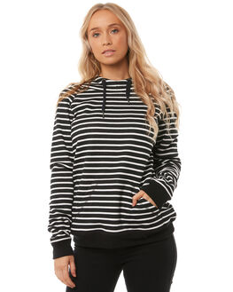 BLACK STRIPE WOMENS CLOTHING O'NEILL JUMPERS - 4521503BSTR