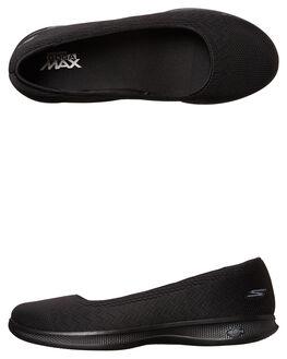 BLACK WOMENS FOOTWEAR SKECHERS SLIP ONS - 14476BBK