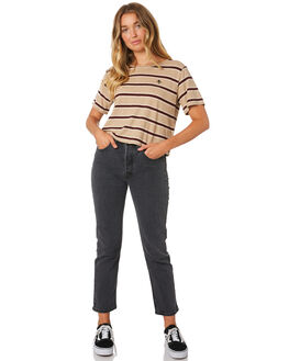 ZEPPELIN STRIPE WOMENS CLOTHING THRILLS TEES - WTA9-109CZZEP