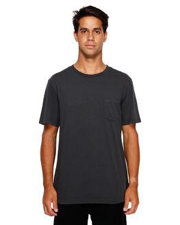 WASHED BLACK MENS CLOTHING RVCA TEES - RV-R181066-WBK