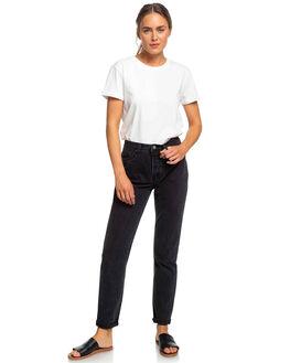 SNOW WHITE WOMENS CLOTHING ROXY TEES - ERJZT04693-WBK0