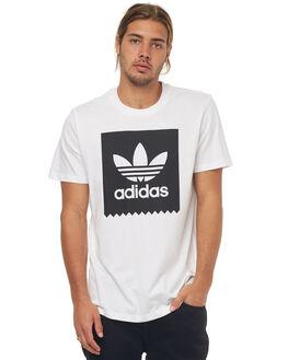WHITE BLACK MENS CLOTHING ADIDAS TEES - CW2336WHT