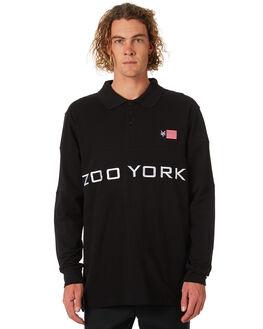 BLACK MENS CLOTHING ZOO YORK SHIRTS - ZY-MLA8143BLK