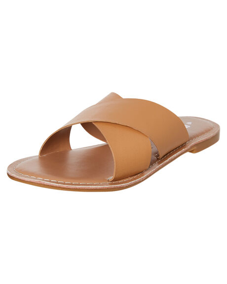 NATURAL WOMENS FOOTWEAR HUMAN FOOTWEAR SLIDES - QUINNNAT-2