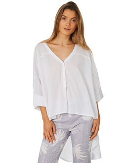 WHITE WOMENS CLOTHING ZULU AND ZEPHYR FASHION TOPS - ZZ2348WHT