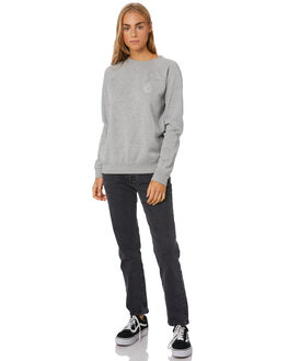 GREY MARLE WOMENS CLOTHING VOLCOM JUMPERS - B4612075-GMRL