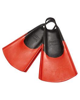 BLACK RED SURF BODYBOARDS HYDRO ACCESSORIES - HFIN-BRE-BRE