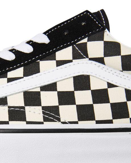 BLACK WHITE CHECKERBOARD MENS FOOTWEAR VANS SNEAKERS - SSVNA38G1P0SCHCKM