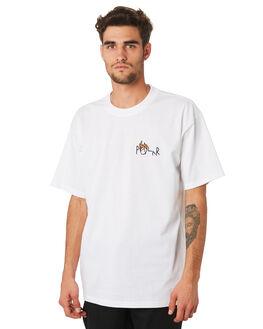 WHITE MENS CLOTHING POLAR SKATE CO. TEES - PSCCASTLET-WHITE