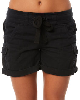 BLACK WOMENS CLOTHING RIP CURL SHORTS - GWAAY10090