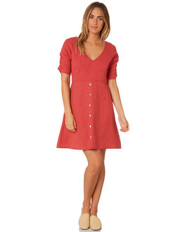 RUST WOMENS CLOTHING TROUBLE LOVES COMPANY DRESSES - T8188443RUST