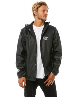 BLACK WHITE MENS CLOTHING HERSCHEL SUPPLY CO JACKETS - 15008-00064