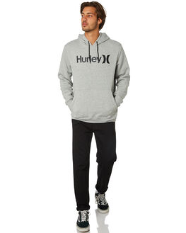 GREY HEATHER BLACK MENS CLOTHING HURLEY JUMPERS - AQ0773065