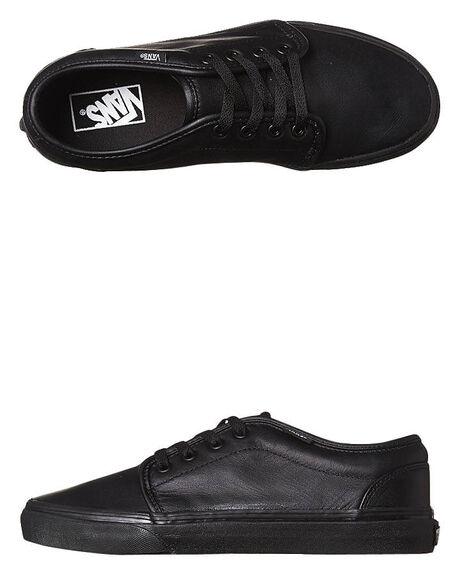 Vans Mens 106 Vulcanized Bts Leather Shoe - Black Black  c5157246a
