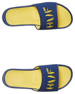 NAVY MENS FOOTWEAR HUF SLIDES - CP00011NVY