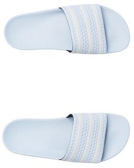 AERO BLUE WOMENS FOOTWEAR ADIDAS SLIDES - SSAQ1068ABLUW