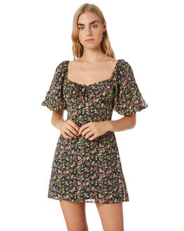 FLORAL WOMENS CLOTHING LULU AND ROSE DRESSES - LU23965FLORAL