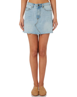 DENIM WOMENS CLOTHING THE HIDDEN WAY SKIRTS - H8184478DENIM