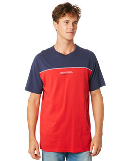 BRIGHT RED MENS CLOTHING RIP CURL TEES - CTEPY24851