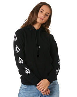 BLACK WOMENS CLOTHING VOLCOM JUMPERS - B3111908BLK