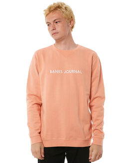 FADED PEACH MENS CLOTHING BANKS JUMPERS - WFL0110FPC