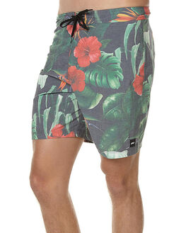 DIRTY BLACK MENS CLOTHING BANKS BOARDSHORTS - BS0053DBL